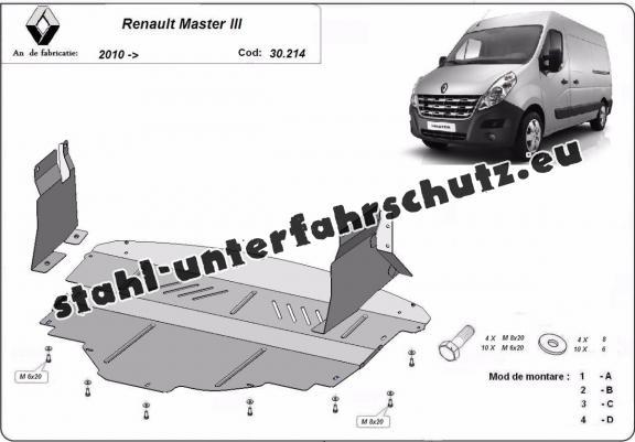 unterfahrschutz f r motor der marke renault master 3