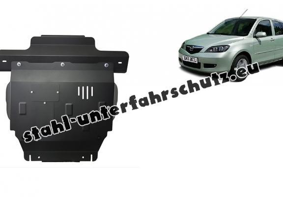 unterfahrschutz für motor und getriebe aus stahl für mazda 2